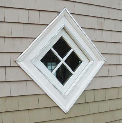 Diamond Shaped Window Square Turned On