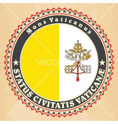 Vintage label cards of vatican city flag vector by stanok on VectorStock®