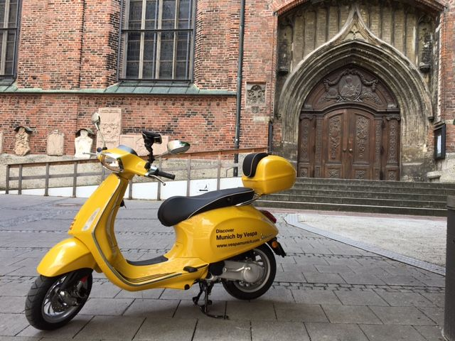 Munich attractions - Discover Munich by Vespa on your individually way. We provide Sightseeing Tours in Munich with scooter. See more at http://www.vespamunich.com/