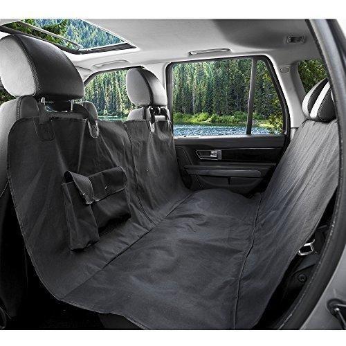 BarksBar Original Pet Seat Cover for Cars - Black WaterProof & Hammock Convertible