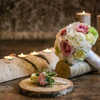 bukiet ślubny eustoma piwonia róża kolory pastelowe