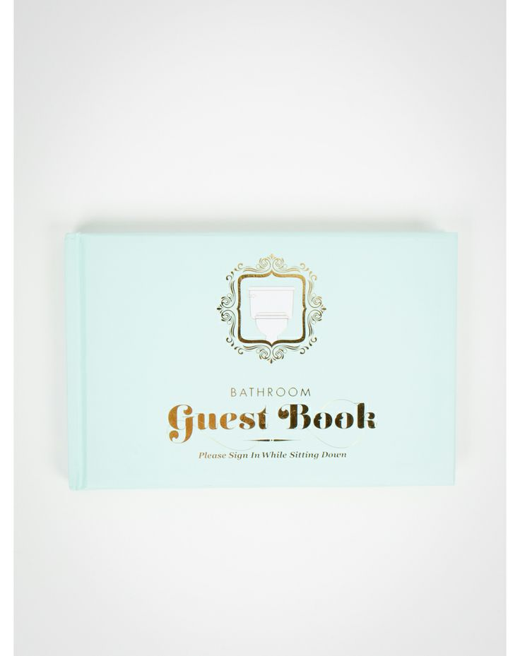 Bathroom guest book sign in please scrub a dub dub for Bathroom guest book
