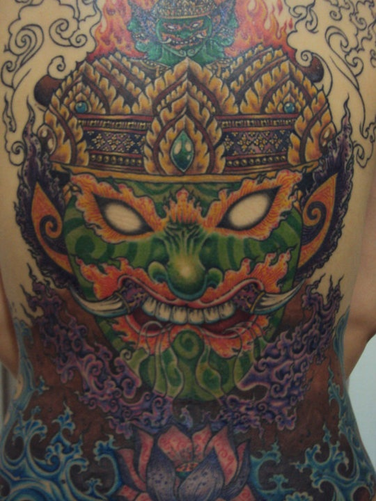 mind blowing thai style color tattoo tattoos pinterest