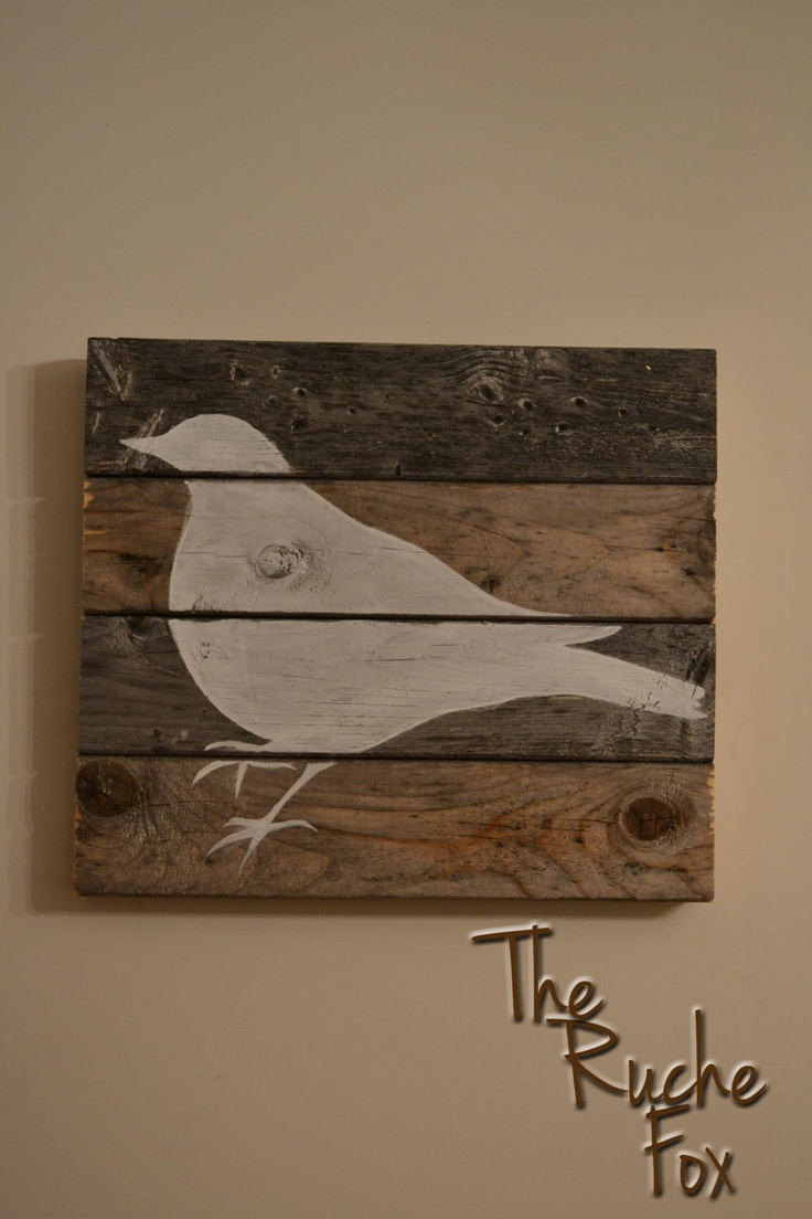 Reclaimed Wood - Bird Silhouette Painting