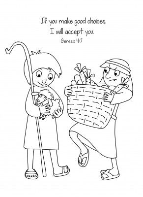 Cain and Abel Bible Coloring Page Free Download                                                                                                                                                                                 More