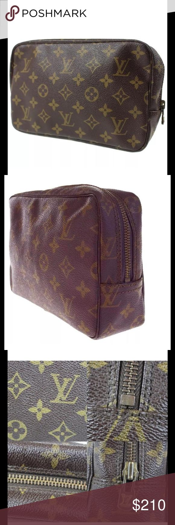 Auth Louis Vuitton cosmetics bag Med size. Nice, used, vintage. Authentic Louis Vuitton Bags Cosmetic Bags & Cases