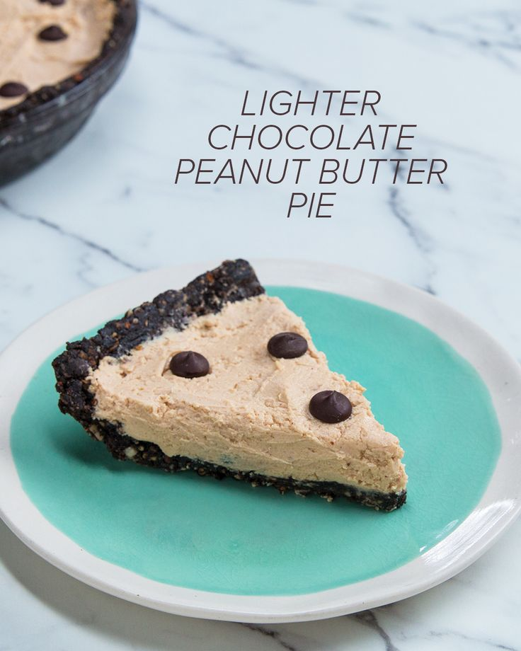 Lighter Chocolate Peanut Butter Pie Recipe by Tasty