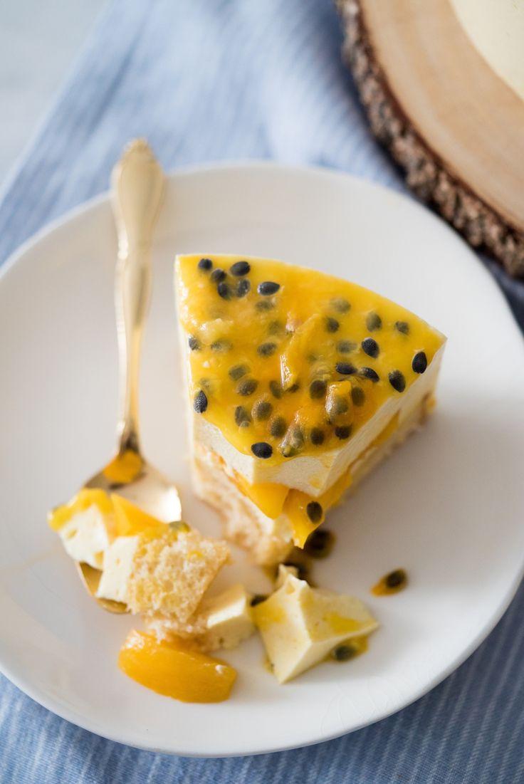 Cheesecake falsiane de frutas amarelas   Vídeos e Receitas de Sobremesas