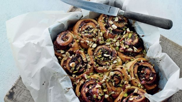 Snegle med chokolade og marcipan -