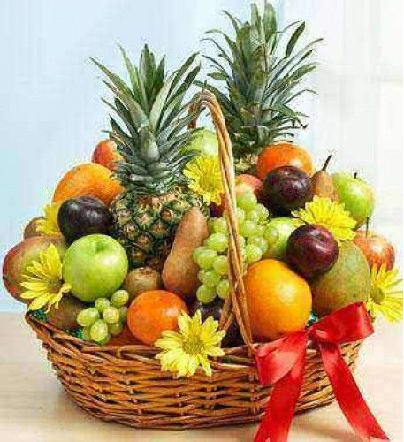 Amazing Delightfully Deluxe    That U0027s Our Abundant Basket Of Fresh Fruit, Selected  And