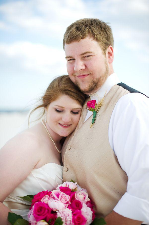 {Real Plus Size Wedding} Intimate Alabama Beach Wedding | Alisha Crossley Photography