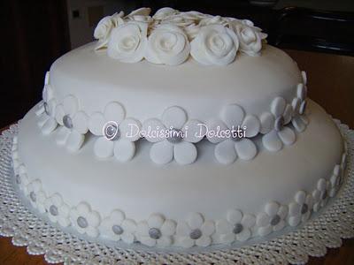 Dolcissimi Dolcetti: Torta a 2 piani per un anniversario... - Flowers cake
