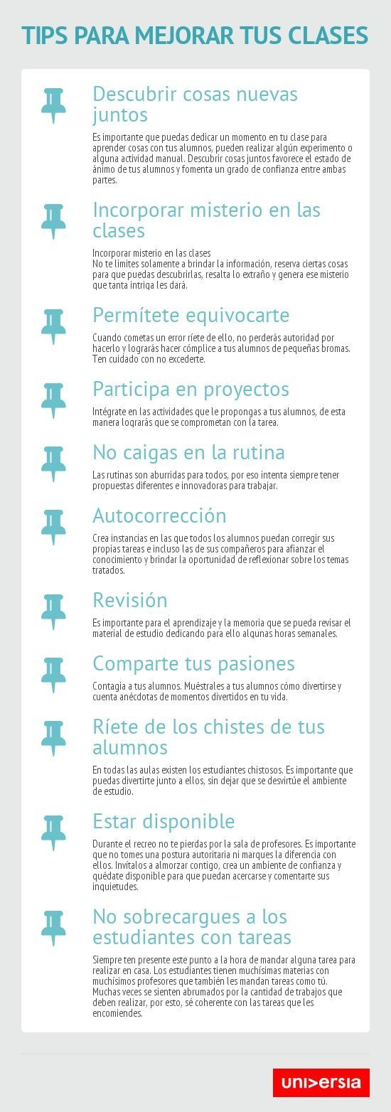 """Gesvin Romero on Twitter: """"11 Recomendaciones para Hacer tus Clases más Interesantes #Infografía https://t.co/3kVLiEiV6x vía @gesvin #Educación https://t.co/Xu8y0rOkqx"""""""