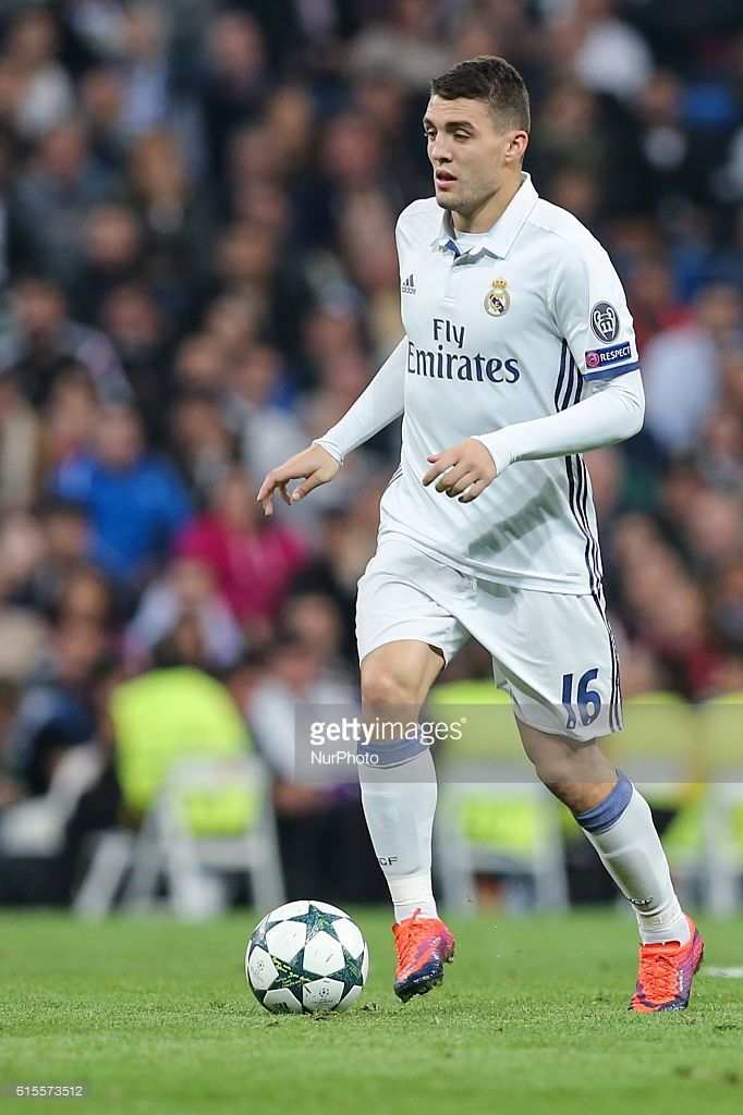 Mateo Kovacic of Real Madrid, in action during the UEFA Champions League football match Real Madrid CF vs Legia Legia Warszawa at the Santiago Bernabeu stadium in Madrid on October 18, 2016.