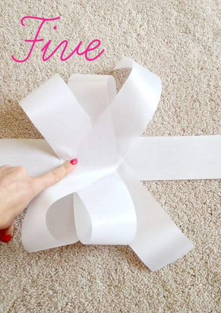 This works and it's SO EASY!!!!! 5 steps and no extra floral wire needed! I used this method with wire edged ribbon and it looks great!