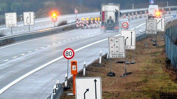 Bis hierhin und nicht weiter: Kurz vor Bad Segeberg ist die A20 derzeit zu Ende.