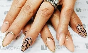 Groupon - $ 59 for customized nail art and an Initial Set of Liquid Gel Nails at Sènsé Nail Spa ($100 Value)   in Shoreline. Groupon deal price: $59