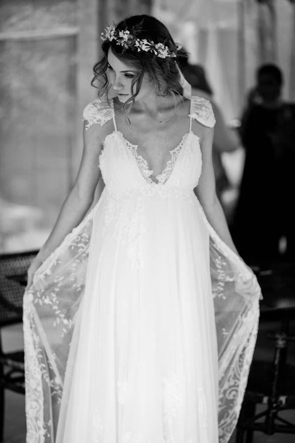 Handmade wedding dress by the bride herself...