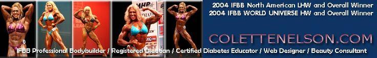 Colette Nelson - The Official Website. Female body builder & diabetes educator.