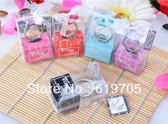 Aliexpress.com : Buy Free Shipping  Ring Diamond Keychain Wedding Favors Party gifts Baby showers favors Engagement favors from Reliable wedding keychain ring suppliers on China-Gifts's Store $39.90