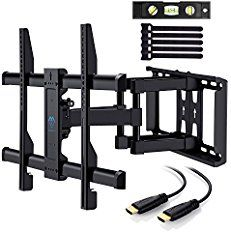 """UNIVERSAL DESIGN: Full-motion wall mount for 37"""" - 70"""" flat-panel TVs up to 120lbs, VESA(mounting hole pattern) - compatible faceplate fits VESA 200X100mm"""