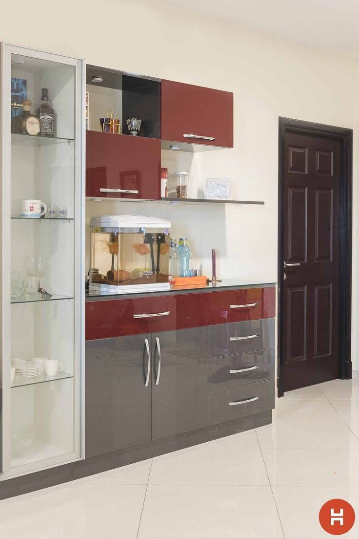 Best 25 crockery cabinet ideas on pinterest black for Small cupboard designs