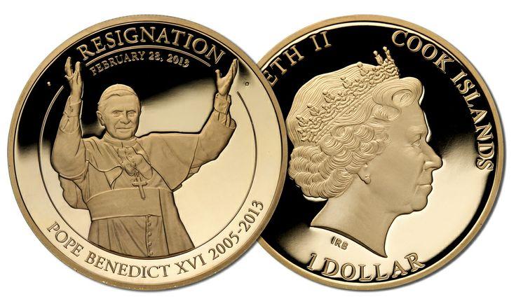 La moneta dell'addio di Benedetto XVI