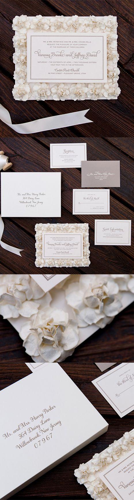 Rose u0026 Flower Wedding Invitation Vanessa