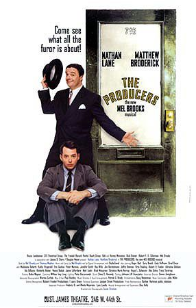 The Producers Broadway show poster