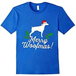 Men's Merry Woofmas Doberman Christmas Dog T-Shirt XL Royal Blue