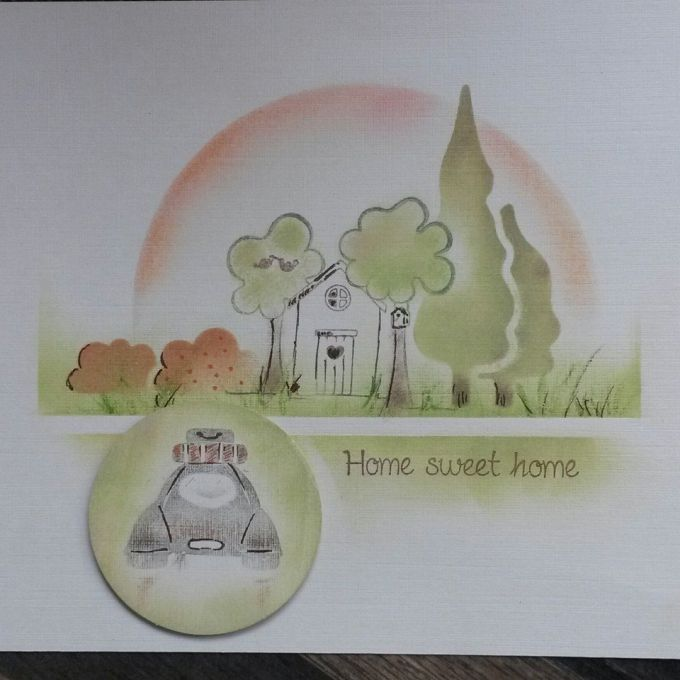 Azza - Tampon Home Sweet Home et tampon Just Married