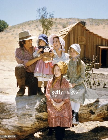 LITTLE HOUSE ON THE PRAIRIE -- Season 1 -- Pictured: (clockwise from left) Michael Landon as Charles Philip Ingalls, Lindsay or Sydney Greenbush as Carrie Ingalls, Karen Grassle as Caroline Quiner Holbrook Ingalls, Melisssa Sue Anderson as Mary Ingalls Kendall, Melissa Gilbert as Laura Ingalls Wilder (Photo by NBC/NBCU Photo Bank via Getty Images)