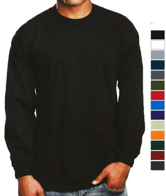 8060472739d Pro 5 Mens Long Sleeve T Shirt Super Heavy Sizes M - 5Xlt Reg And Tall Nwot