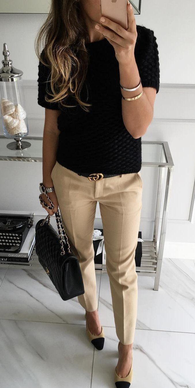 #winter #outfits white slacks pants