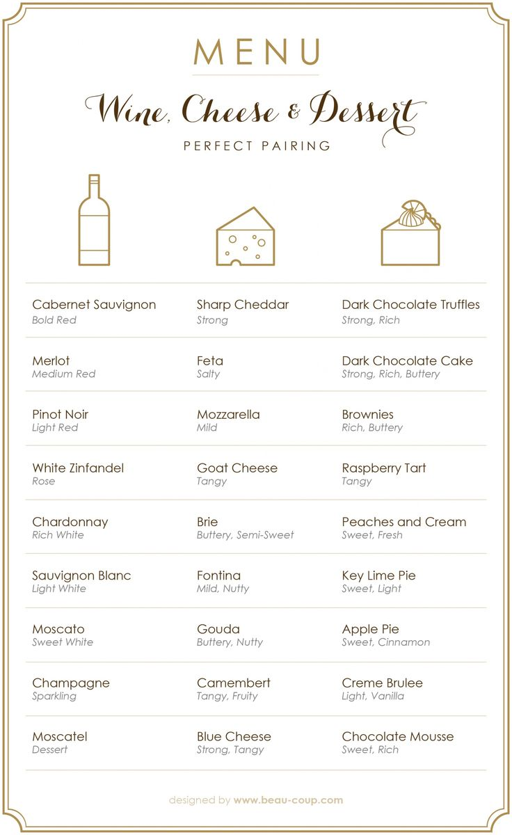 If you're anything like us, then three of your favorite indulgences include wine, cheese, and dessert. Lucky for all of us, pairing the three is considered a no