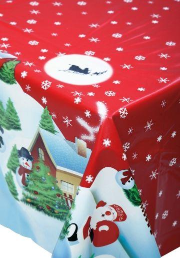 Voksduk i metervare. Vinyl med julemotiv. Bredde 140 cm. NB! Det er kun mulig å bestille i hele meter i nettbutikken.
