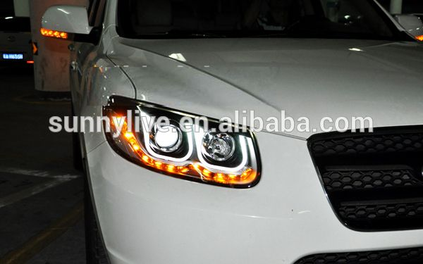 2006-2010 Hyundai Santa Fe Angel Eyes LED Head light U Type, View head lamp, OEM Product Details from Guangzhou Liyuan Automobile Center Yonghong Automobile Accessories Trading Firm on Alibaba.com