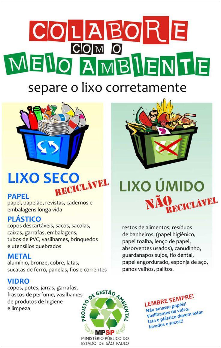 cartaz campanha de separação de lixo MPSP