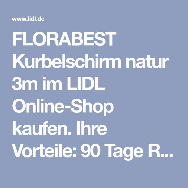 FLORABEST Kurbelschirm natur 3m im LIDL kaufen