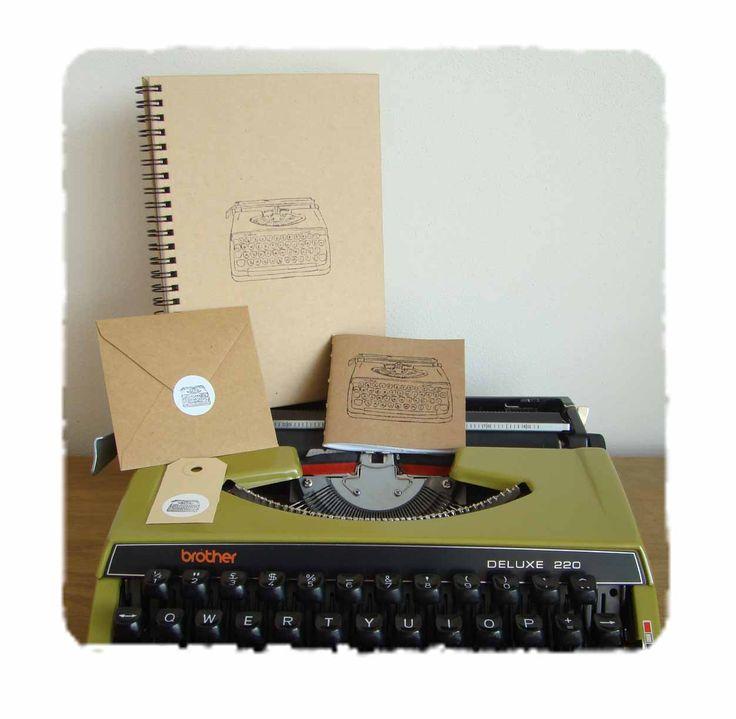 #Handmade #stationary van @schrijfboek with #vintage #typewriter   ook verkrijgbaar bij #webshopsonly #conceptstore #Vughterstraat 47,#denbosch