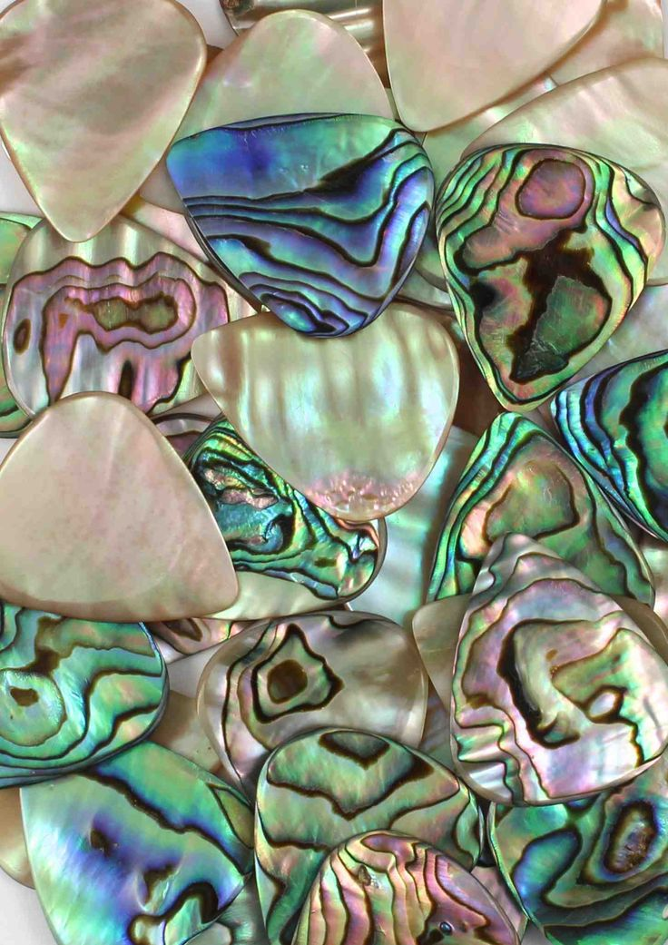 Luxury Abalone Guitar Plectrums