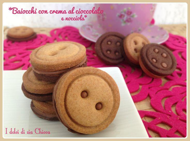 Baiocchi con crema al cioccolato e nocciola