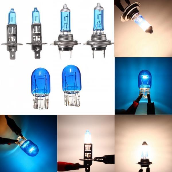 Bombillas blancas azules del faro de la mejora del coche del xenón 100w fijadas H1 H7 T10 6 piezas