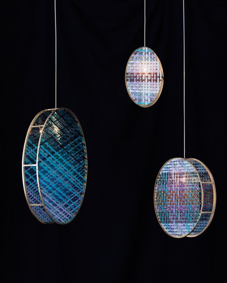 Woven-Glass Pendant Lamps by Elisa Strozyk for Edition van Treek