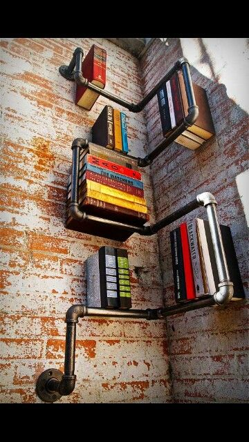 Awesome industrial pipe shelving