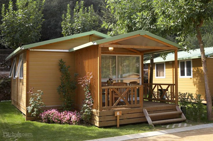 Cute cabins complete with a covered terrace, Camping Bassegoda Park, Albanyà, Gerona - Pitchup.com