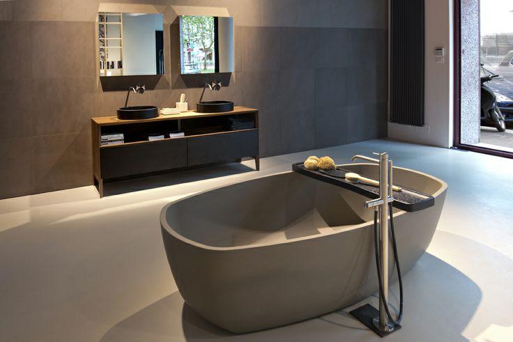 NEUTRA Flagship Store in milan - water_wellness_stone. #bathroom #spa #design #bathtub
