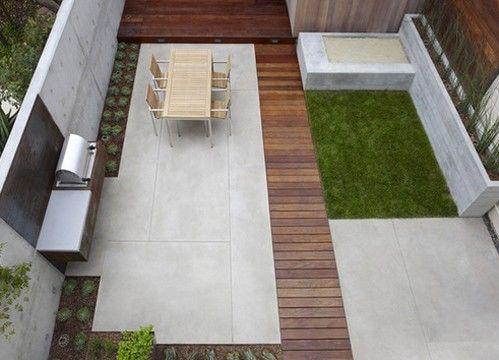бетонная песочница современного стиля
