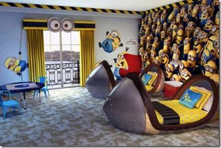 Coming soon Despicable Me kid's suites at Loews Portofino Bay Hotel' at #Universal #Orlando Resort
