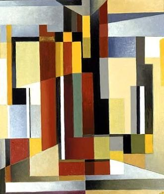 Central Density by Werner Drewes / American Art. Werner Drewes initially studied architecture before enrolling,  in 1921-22, at the Bauhaus in Weimar under Klee, Kandinsky, Itten and Feininger.  For four years - 1923 to 1927 - he travelled the world with his bride, before completing his Bauhaus training in Dessau in 1929.